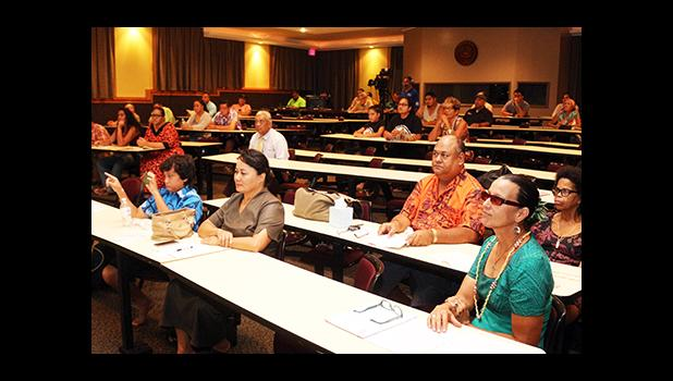 A look at the ASCC Lecture Hall during the Tatau Forum that was held yesterday morning – to officially kick of the 12th Annual Tisa's Tattoo Festival. [photo: TG]