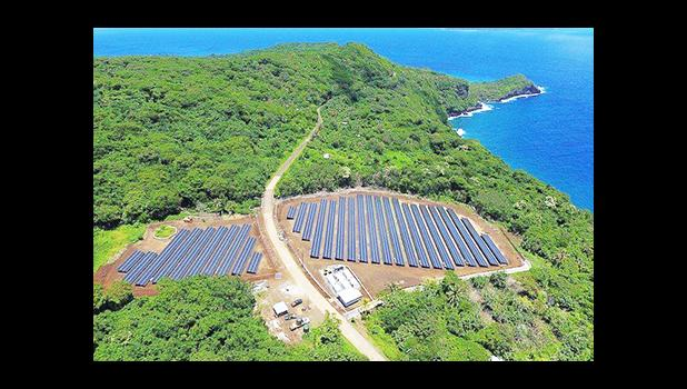 The solar array in Ta'u. [photo: SolarCity]