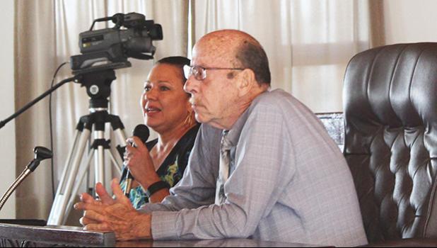 Territorial Bank of American Samoa (TBAS) Board nominee Leilua Stevenson and current TBAS board chairman, Steve Watson