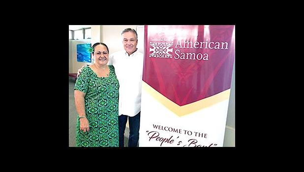 Chief Credit Officer of the Territorial Bank of American Samoa (TBAS), Greg Thygesen, along with TBAS Chief Operating Officer Makerita Polu
