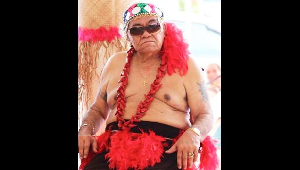Aumoeualogo Te'o J. Fuavai in his chiefly attire
