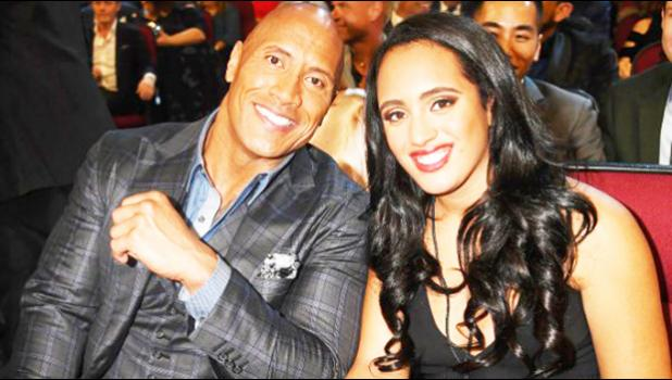 "Dwayne ""The Rock"" Johnson with his daughter"