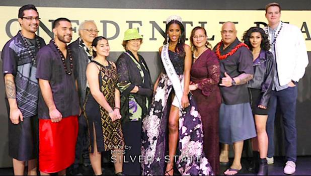 Miss Nevada USA 2019, Tianna Jacqlyn Nomura McMoore Timu Tuamoheloa with her proud grandparents, her parents, brothers, niece, and best friend