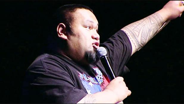 Samoan comedian Tofiga [image from You Tube]