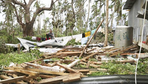 The destruction left in the wake of Tropical Cyclone Gita. [Photo: RNZ / Richard Tindiller]