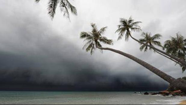 Tonga shoreline as Gita approached yesterday. [NZ High Commission website]