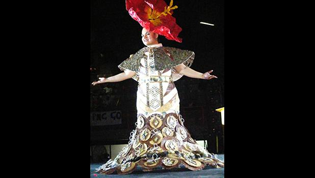 Miss American Samoa Magalita Philomena Johnson in her traditionally inspired wear