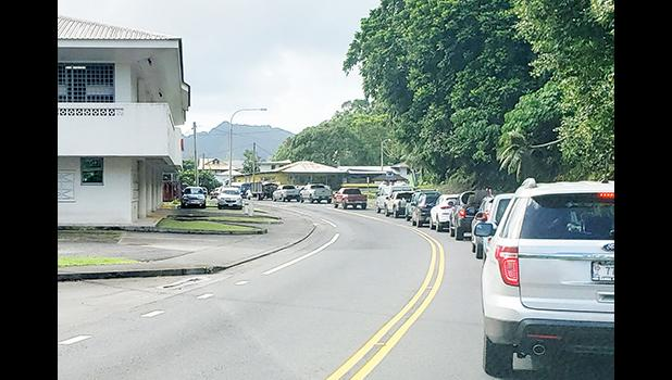 Traffic on the main road in front of DBAS