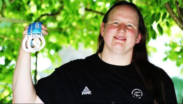 Transgender weightlifter Laurel Hubbard  (Hannah Peters/Getty Images via Pink News)