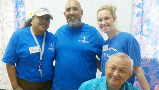 Medical technicians from the U.S. posed Tuesday for a Samoa News photo at the Territorial Administration on Aging