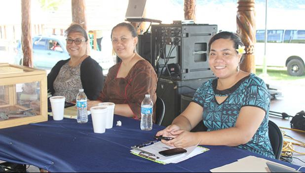 A trio of ASG personnel assigned to gather information and donations