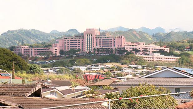 Tripler Hospital on Oahu. [photo: via Hawaii News Now]