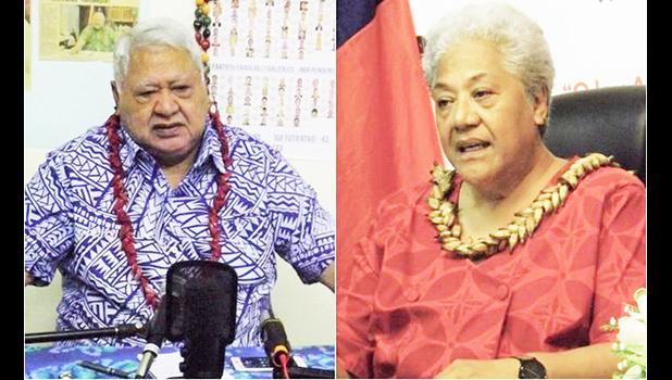 Tuila'epa Sa'ilele Malielegaoi and Fiame Naomi Mata'afa