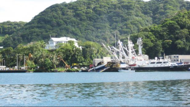 Tuna boats in port, American Samoa, 2009