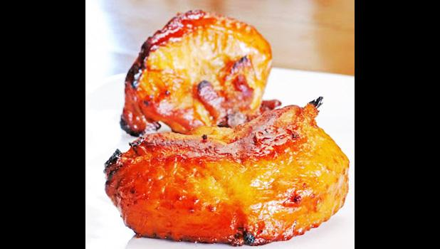 Barbecued turkey tails