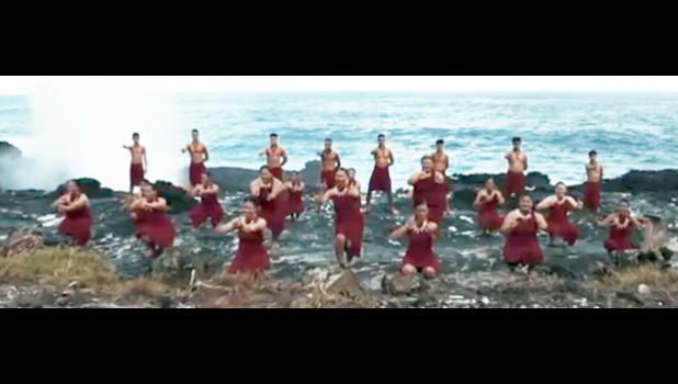 Dancers at Turtle and Shark location in Vaitogi, American Samoa