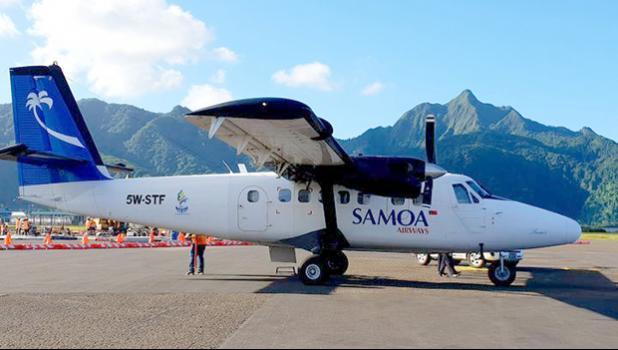 Samoa Airways Twin Otter at American Samoa's Tafuna International Airport.