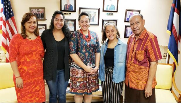 Ms. Bonnelley Pauulu (ASG-Hawaii), Ms. Oilau Lutali (UH), Ms. H. Gingerlei Porter (UH), Ms. Britanica Sene (UH) and Mr. Soliali'i Falepo (ASG-Hawaii)