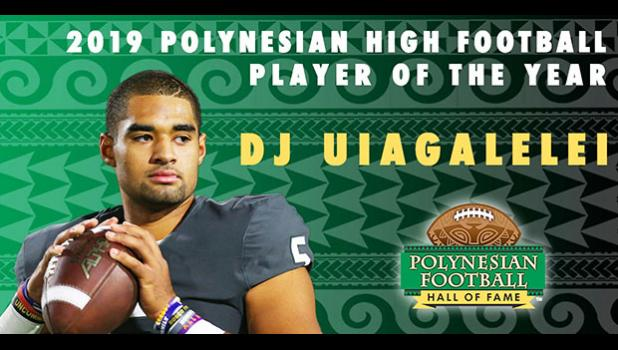 DJ Uiagalelei before Football Hall of Fame graphic