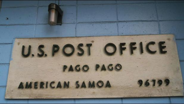 U.S. Post Office sign, American Samoa
