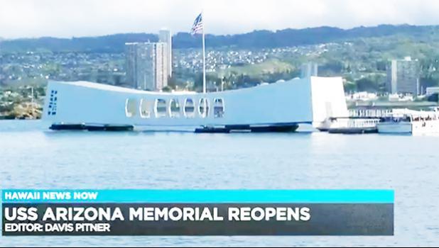 Screenshot of USS Arizona Memorial reopening