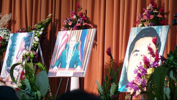 Utu Abe Malae's funeral service