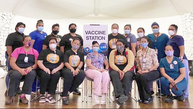 Dept of Health staff at Lee Auditorium