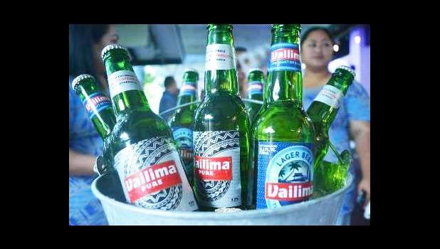 Bottles of Vailima Beer