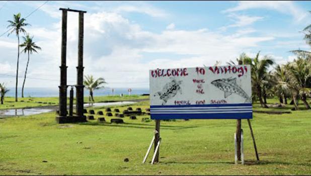 Vaitogi village sign