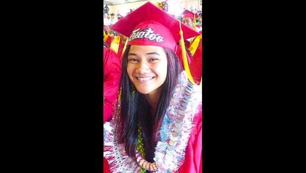 Fagaitua High School class of 2018 Valedictorian, Selaina Johanna P. Tuatoo [photo: Leua Aiono Frost]