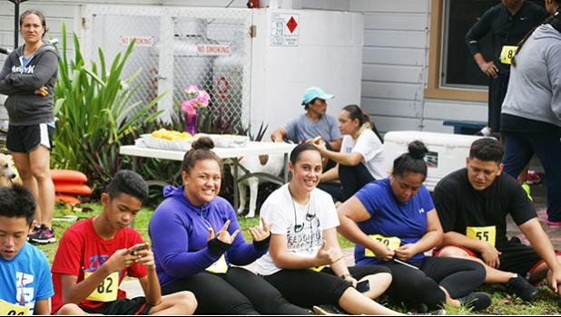 Some participants of the Heart N Sole fun run hosted by SPW last Saturday. [photo: TG]