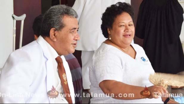 The General Secretary of the Congregational Christian Church, Reverend Vavatau Taufao and the CEO of the Ministry of Revenue, and Matafeo Avalisa Fautuaalii