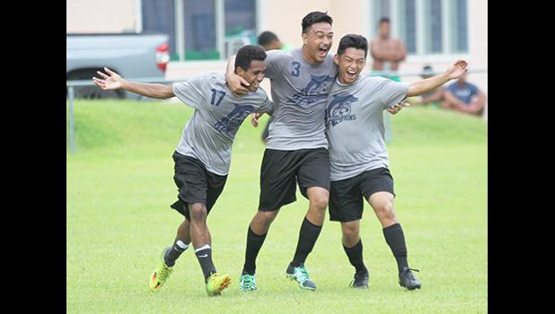 Walter Pati and two South Pacific Academy teammates