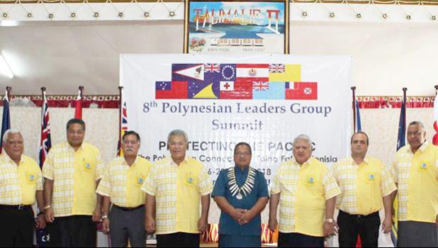 Far right is American Samoa Lt. Governor Lemanu Peleti Mauga.
