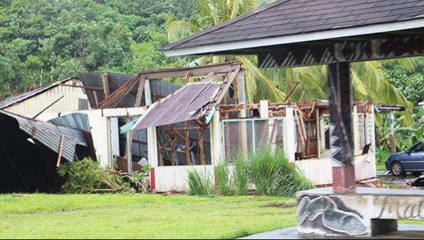 A home destroyed by Tropical Storm Gita  on the west side of Tutuila. [SN file photot]