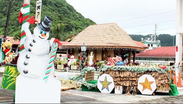 Christmas decorations in Fagatogo