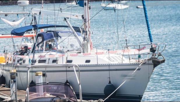 The yacht at Marina bay