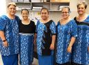 (l-r) Debra Tupuola, Saini Filoialii, Na'i Vaialega, Alesi Aga and Vera Peko.