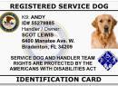 Service Dog registration form