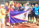 American Samoa National Tennis Team and supporters