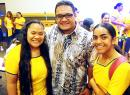 Fale and PTK members Geraldine Aliitaeao-Ofisa (left) and Lolua Leomiti.