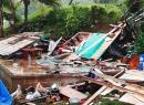 A house in Fiji destroyed by Cyclone Harold
