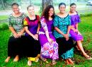 (l-r) Leulynn Leifi, Miss Student Association For FaaSamoa; Emma Davenport, Miss Political Science; Aisavali Loloma Peters, Miss Fresh Print; Grace Lagai, Miss Family & Friends;  and Belinda Tiatia, Miss X Factorial