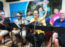 The Coconut Beatles entertaining at Paradise Pizza Bar & Grill, Nuuuli