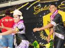 Miss June Fauga and Mr. Sam Lulai during their crowning taualuga (first traditional dance)
