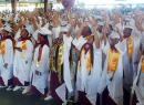 "A look at some of the 225 graduates of Tafuna High School class of 2018 during their commencement ceremony Monday morning at the Tafuna High gymnasium. Their theme was ""Tu'utu'u i le loloto, e tamali'i le poto"". [photo: Leua Aiono Frost]"
