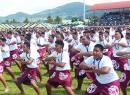 Tafuna High Shool entertaining at Flag Day 2019