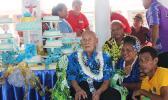 Taulapapa A'asa Ah-Sing at his 100th birthday party.