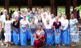 27 American Peace Corp volunteers with Charge d'Affaires Tony Greubel and Izumi and Peace Corps Samoa Country Director, Gini Wilderson