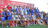 Cup Champions, the USA Eagles, join 2nd place Manu Samoa and the 3rd place New Zealand All Blacks.